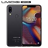 UMIDIGI A3 Pro Smartphone da 5.7' (19:9), Triplo Slot 2 Nano SIMs+1 MicroSD, Quad Core 3GB+32GB, Android 8.1, Batteria 3300mAh, Fotocamera 12MP+5MP, Face ID/GPS/Hotspot, Grigio