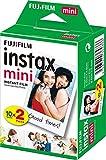Fujifilm Instax Mini Film, Pellicola istantanea per fotocamere Instax Mini, Confezione da 20 foto, Formato foto 46 x 62 mm